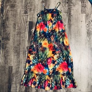 Other - Floral Watercolor Halter Maxi Dress Size Medium